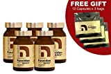 NatureMedic Fucoidan AHCC Brown Seaweed Immunity Supplement with Organic Mekabu Mozuku Agaricus 5 Bottles and FREE 3 Bags of 12 Capsules 836 Vegetable Capsules Made in Japan For Sale