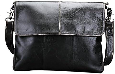 Genda 2Archer Genuine Leather Flapover Messenger Shoulder Bag Handbag
