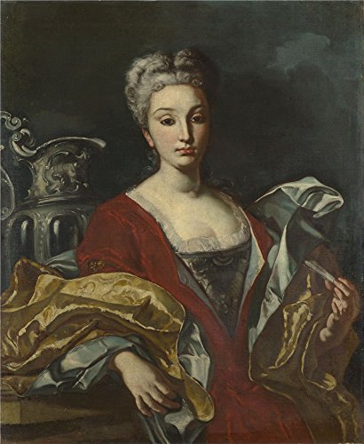 The High Quality Polyster Canvas Of Oil Painting 'Italian Neapolitan Portrait Of A Lady ' ,size: 8 X 10 Inch / 20 X 25 Cm ,this Vivid Art Decorative Canvas Prints Is Fit For Gym Artwork And Home Gallery Art And Gifts