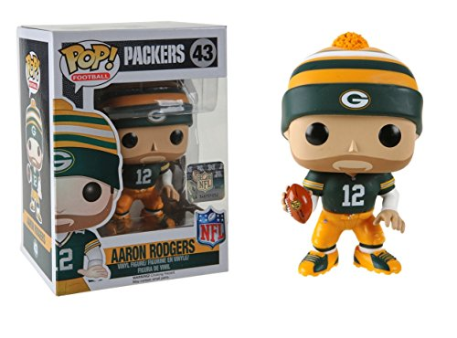 Funko POP NFL: Wave 3 - Aaron Rodgers Action - Aaron Bay Rogers Packers Green