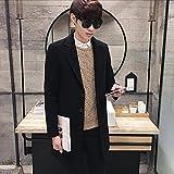 Han Shi Mens Long Trench Coat, Fashion Formal