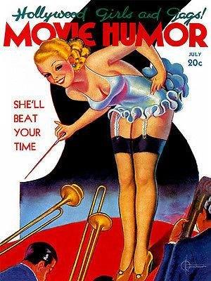 Movie Humor - 1930's - Pulp Magazine Cover (Pulp Magazine Cover)