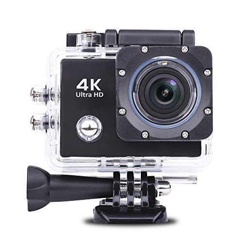WAWOOW Action Sports Camera 16MP 4K WIFI Action Camera Watrproof Ultra HD 170° Wide-Angle [並行輸入品]   B07CRT8K53