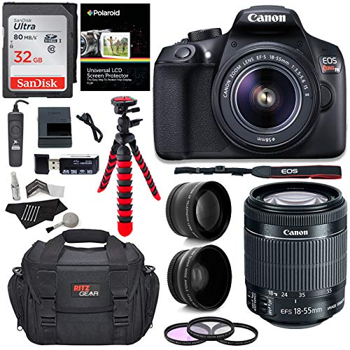 Canon Slr Memory Card - Canon T6 Digital Rebel SLR Camera Kit with EF-S 18-55mm f/3.5-5.6 is II Lens, 32GB Memory Card, Camera Bag and Premium Accessory Bundle