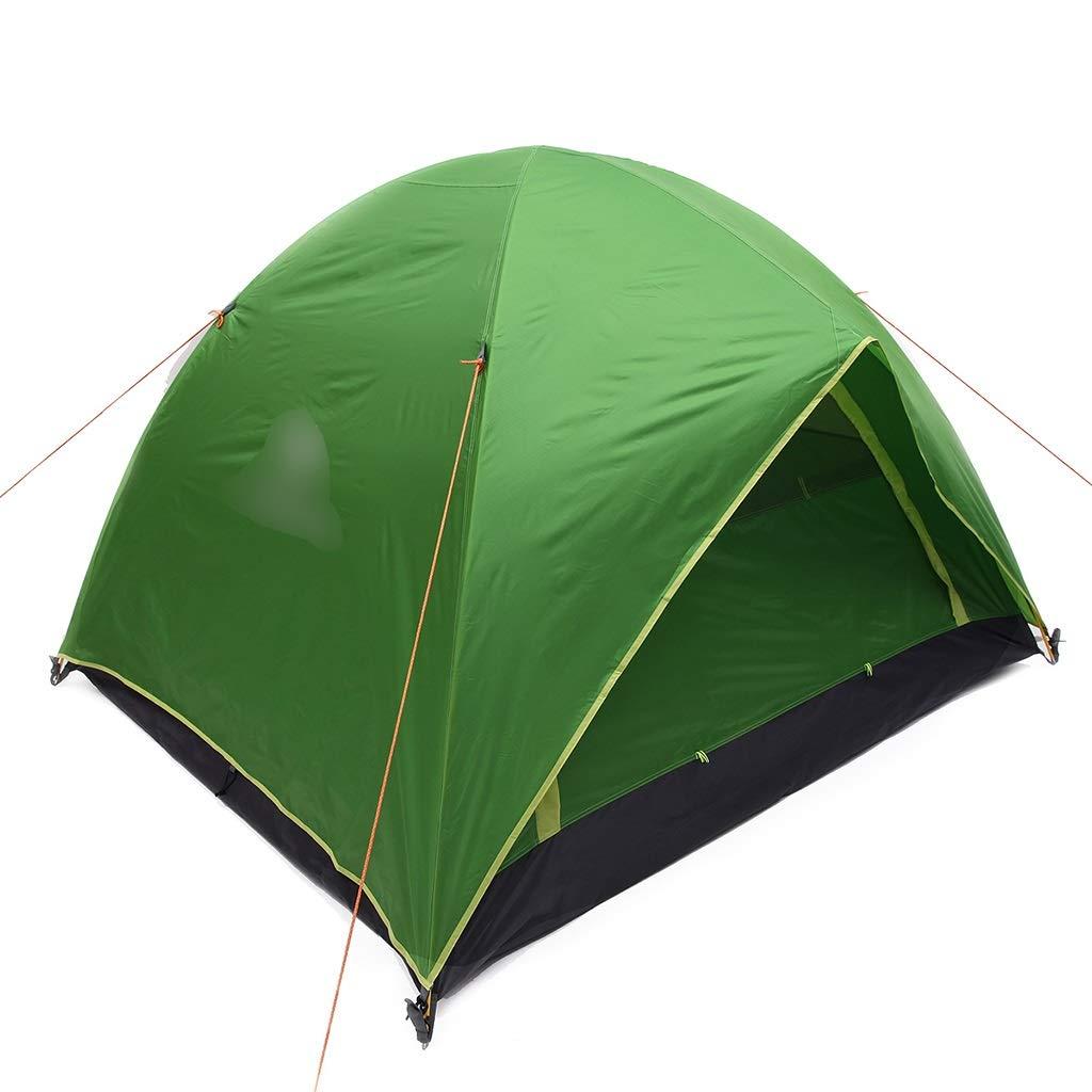 YaNanHome Im Freien Zelt des Zeltes Starkes regendichtes Zelt 2-3 Leute Wildes kampierendes Zeltpaarzelt, Das Zelt wandert (Farbe : Grün, Größe : 210  180  140cm)