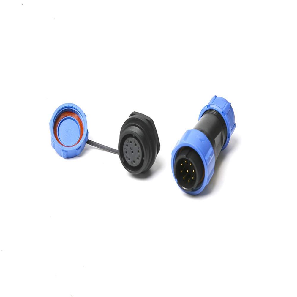 SP21 Connettori impermeabili IP68 Presa circolare Spina multipolare 21mm 9Pin Connettori Baugger