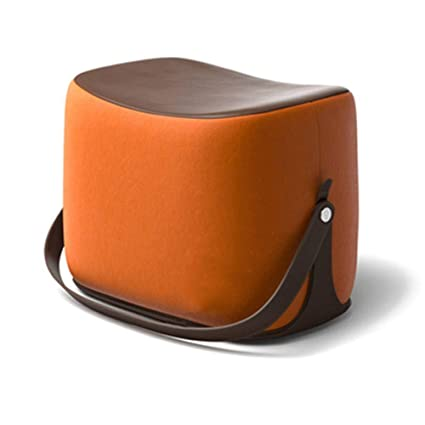 Cool Amazon Com Bove Portable Leather Foot Stool Padded Seat Dailytribune Chair Design For Home Dailytribuneorg