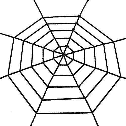 ハロウィン飾り 蜘蛛の巣 ハロウィン 舞台の飾り 手芸 アクセサリー ファイバー巨大蜘蛛の巣スパイダーウェブ 蜘蛛の巣スパイダーウェブ 1.5m ブラック 5f