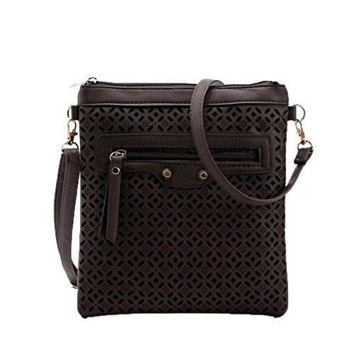 Women Large TOPUNDER Body for Bags Cross Coffee Ladies Capacity Shoulder Handbags X Bag F46qwxUn