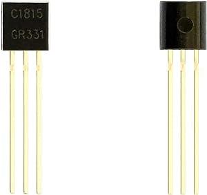 Todiys New 100Pcs for C1815 2SC1815 2SC1815-Y 2SC1815-GR 2SC1815-BL 0.15A 50V to-92 NPN Transistors 2S-C1815