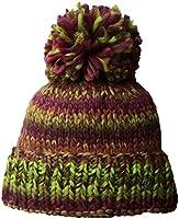 Spyder Girl's Twisty Hat, Raspberry/Amaranth/Bright Yellow, One Size