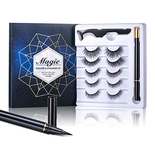 Magic False Eyelashes With Eyeliner