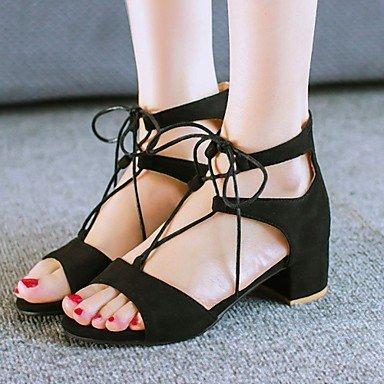 Zormey Women'S Shoes Velvet/Chunky Heel/Platform/Open Toe Heels Dress Black/Brown/Burgundy US8 / EU39 / UK6 / CN39