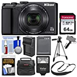 Nikon Coolpix A900 4K Wi-Fi Digital Camera (Black) with 64GB Card + Case + Flash + Battery & Charger + Tripod + Selfie Stick + Kit For Sale