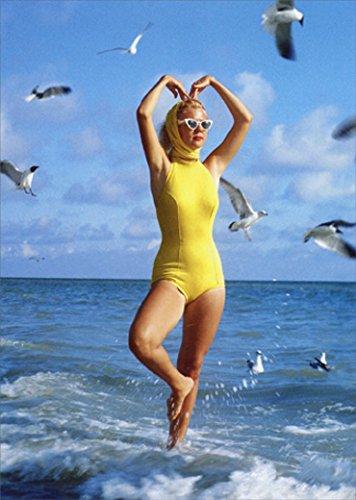 Lady and Seagulls Funny Feminine Birthday Card