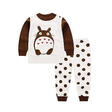 Kid 2-Piece Totoro Long Sleeve Cotton Pajama Set
