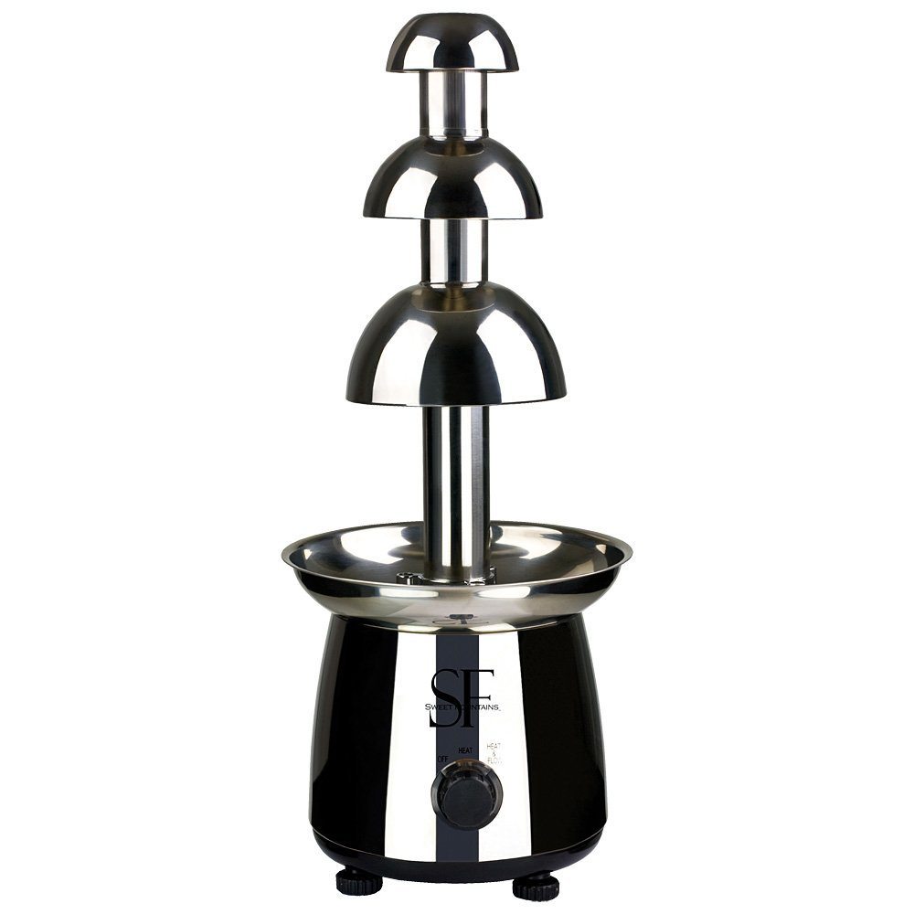 Sweet Fountains 22'' Entertainer Home Stainless Steel Chocolate Fountain