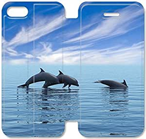 Screen Protection Phone Cases Dolphin-3 iPhone 6/6S 4.7 Inch Leather Flip Case