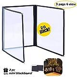 FLK Tech 20 Pack 6 View Restaurant Menu Covers/Fits 8 1/2'' x 11'' Paper (3 Page)