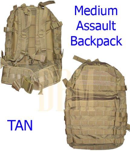 Medium Molle Assault Pack USMC Hiking Backpack Tan, Outdoor Stuffs