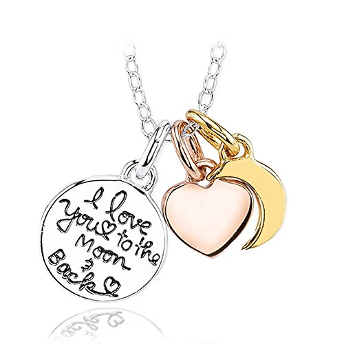 Inspirational Necklace for Women Teen Girls - Fashion Jewelry Pendant - Love To The Moon - Prime (Holo 2 Costumes)