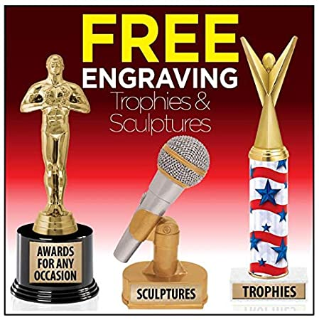 7.25 Personalized Gold Cheer Star Trophy On Deluxe Round Base Prime Crown Awards Cheerleading Trophies with Custom Engraving