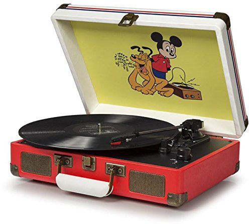Crosley CR8005A-DS Cruiser Portable 3-Speed Turntable, Disney by Crosley