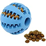 Yanyi Pet Dog & Cat Ball Toy, Safe & Bite-Resistant Dog Ball, 2.76 Inches Durable IQ Treat Pet Dog Chew Toy, Tooth Cleaning Ball for Small and Medium Dogs to Play Train Chew (Deep Blue)