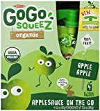 GoGo squeeZ Organic, Apple Apple, 3.2 Ounce Pouches, 4 Count (Pack of 12) offers