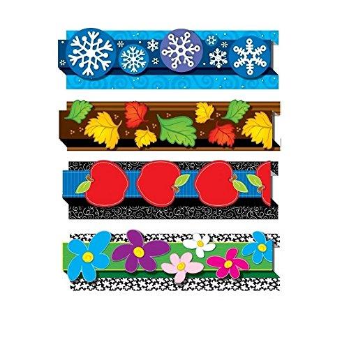 Carson-Dellosa 144176 Pop it Seasonal Border, Grade PreK 8, 3 inch x 3 feet