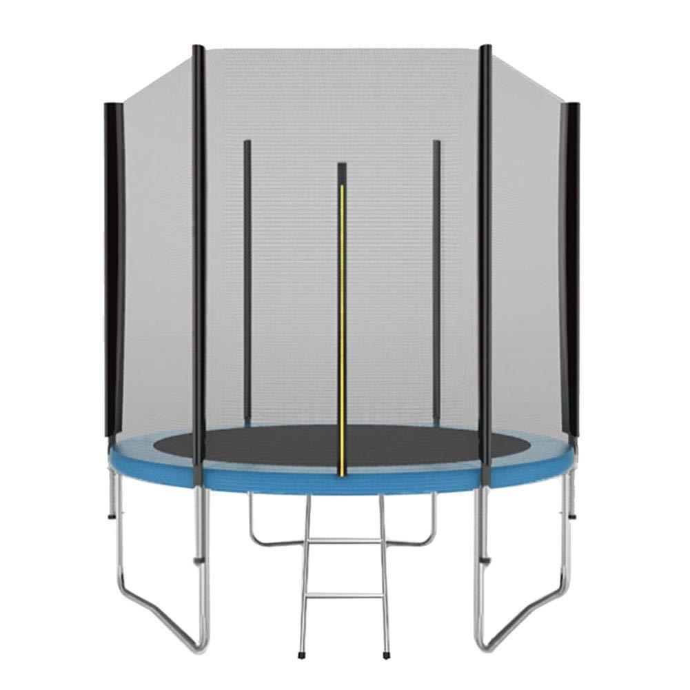 Trampolin, Kinder-Rundtrampolin mit Sicherheitsgehäuse und Leiter 183 cm für Innen/Außen - Max Load 200KG