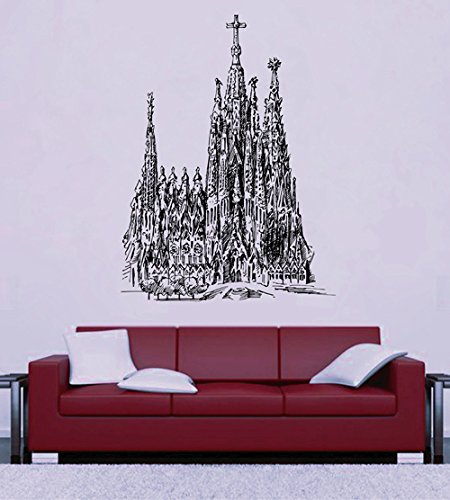 ik2681-wall-decal-sticker-beautiful-cathedral-gothic-church-hall-bedroom