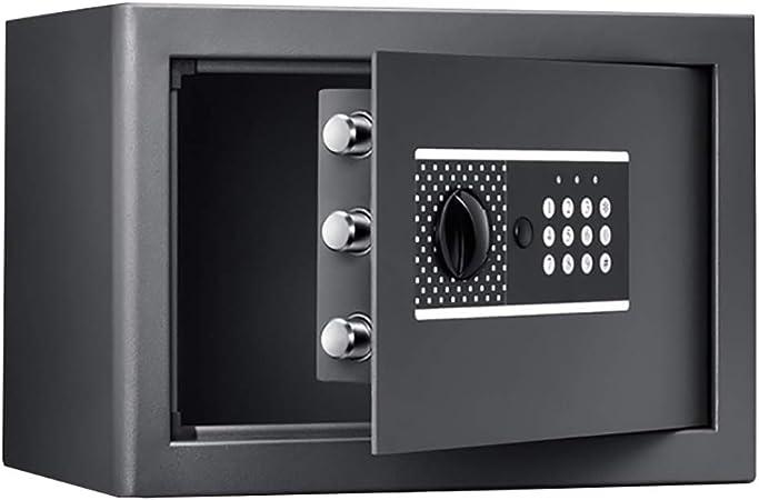 Caja fuerte YXX Cajas Fuertes pequeña Seguridad con Teclado Digital, Negro de Dinero en Efectivo Dinero de la joyería Objetos de Valor, Wall-Anclaje Diseño: Amazon.es: Hogar