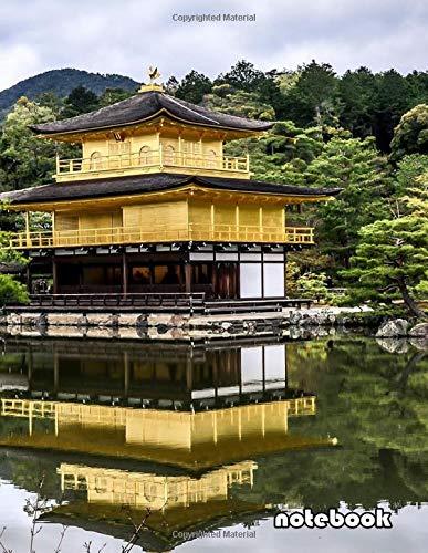 Notebook 8 5x11 Cute Lined Journal Japanese Garden Temple