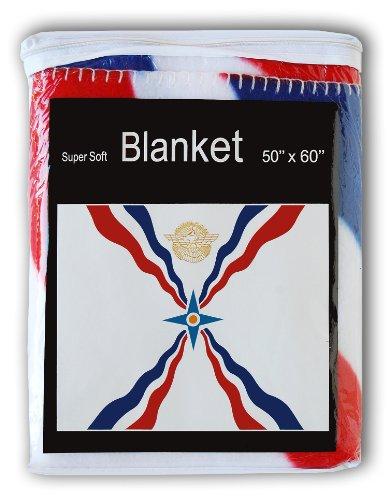 (Assyrian Flag Fleece Blanket 5 ft x 4.2 ft. Throw Cover Flag of Assyria Bedding Akkadian Babylonian)
