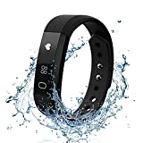 Fitness Tracker Watch with Heart Rate Monitor - FELIS Bluetooth 4.0 Activity Tracker and Pedometer Bracelet Wristbands with Call MSM Reminder and IP67 Water Resistance for iPhone Android Smartphone