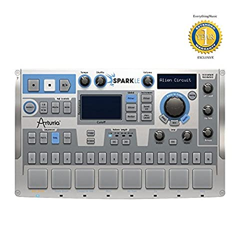 Arturia SparkLE 420101 Compact Hardware/Software Drum Machine with 1 Year Free Extended Warranty (880 Drum Machine)