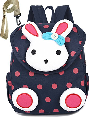 Mini Rabbit Mobile Phone - Children Kid Backpack Organizer Preschool with Harness Rabbit for Unisex (Blue)