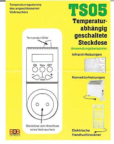 TS05 Temperatur abhängig geschaltete Steckdose Heizung Regelung