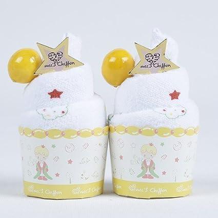 Toalla pastel Muffin de el principito lujo 100% algodón