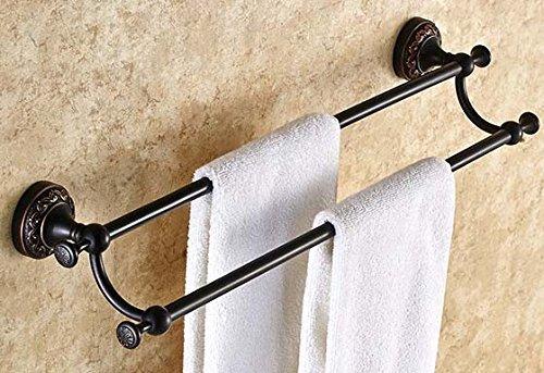 MIAORUI Hardware, Cuarto de baño, Llena de Cobre Negro, Estilo Europeo de Doble Capa baño toallero, toallero, Antiguos de baño Percha, Carton Volver a los ...