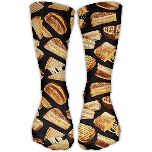 Men Grilled Cheese Sandwiches Galore Athletic Sock Shoe Size 50cm (19.6 inch)