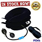 HOKI Cervical Neck Traction Device:– Effective and Instant Relief for Chronic Neck and Shoulder Pain | Special Offer Pump, Eye Mask & Ear Plug