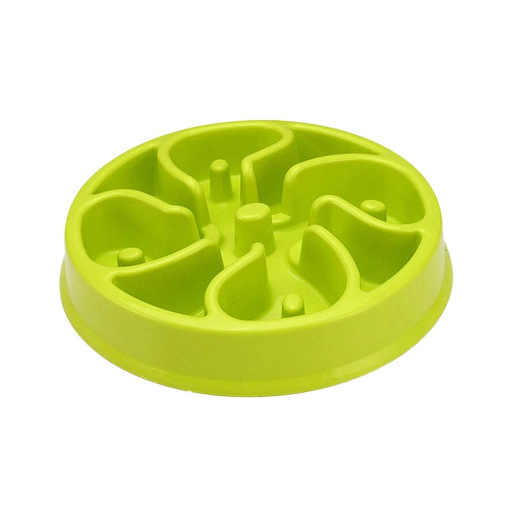 Green 8.157.671.96inchs Green 8.157.671.96inchs Slow Feeder Eating Dog Food Bowls Interactive Feeder Slow Down Feed Dog Cat Feeding Bowls Pet Bloat Stop Dog Cat Bowls (color   Green, Size   8.15  7.67  1.96inchs)