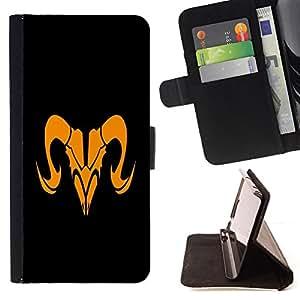 - Orange Taurus Sign - - Prima caja de la PU billetera de cuero con ranuras para tarjetas, efectivo desmontable correa para l Funny HouseFOR LG Nexus 5 D820 D821