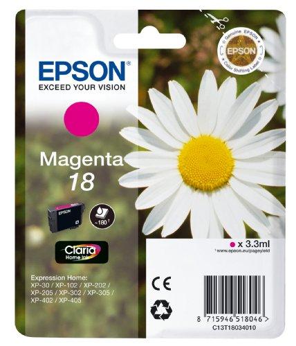 Epson Singlepack Magenta 18 Claria Home Ink 3.3ml 180páginas cartucho de tinta - Cartucho de tinta para impresoras (Magenta,...