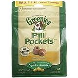 PET_SUPPLIES  Amazon, модель GREENIES PILL POCKETS Soft Dog Treats, Chicken, Capsule 15.8-oz. 60-count pack of GREENIES PILL POCKETS Treats for Dogs Chicken, #1 vet-recommended choice for giving pills, артикул B00HQM0UMS