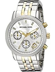 Michael Kors MK5057 Womens Two Tone Chronograph Watch