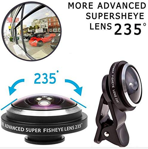 FidgetKute Super 235° Clip On Fish Eye Camera Lens Kits for iPhone 6/ Plus/ 5S/ 5C/ Samsung Blue Samsung Galaxy S DUOS 2 S7582 (Samsung S7582 Galaxy S Duos 2)