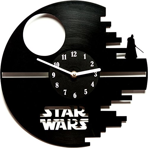 secondlifeforvinyl Star Wars 12-Inch Vinyl Wall Clock, Black